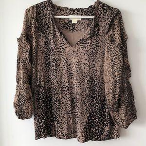 Anthropologie Maeve animal print blouse